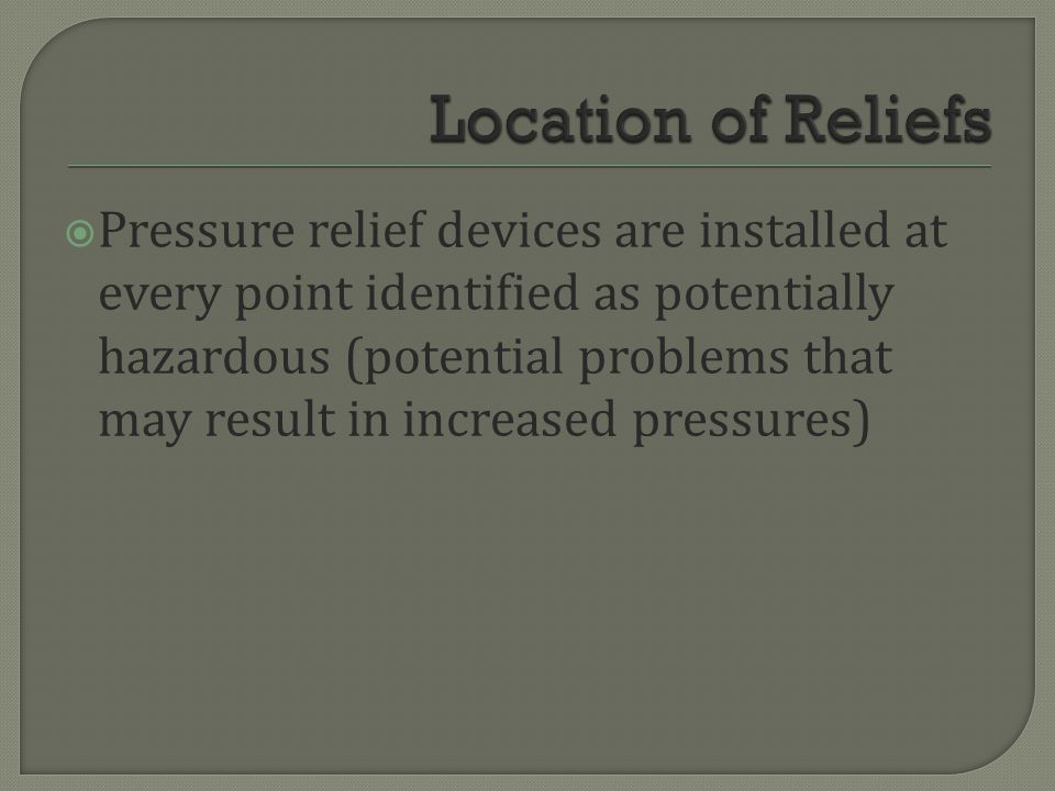 Location of Reliefs