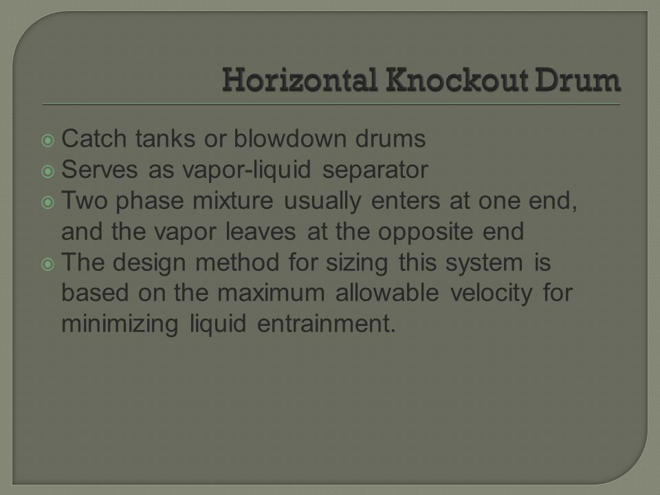 Horizontal Knockout Drum
