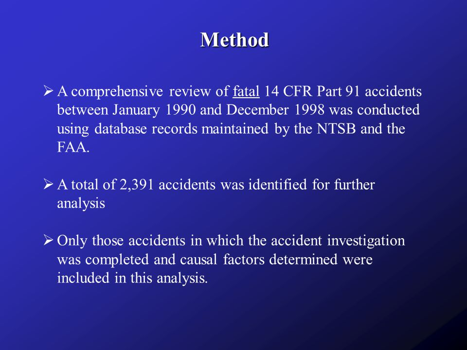 FAR Part 91 General Aviation Accidents