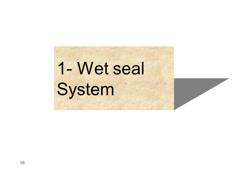 1- Wet seal System 16