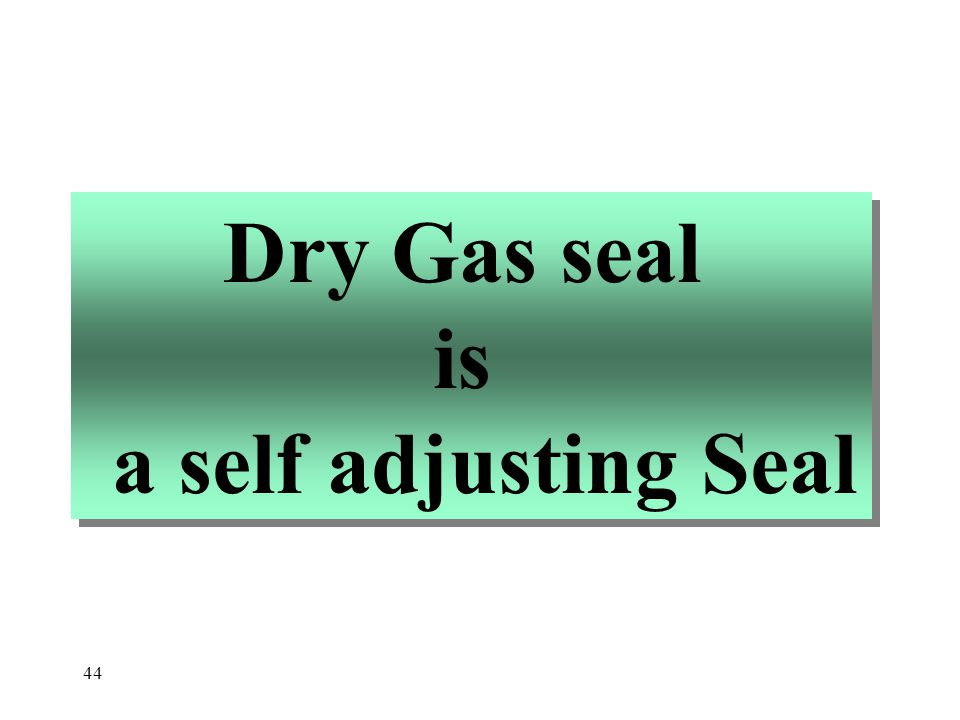 Dry Gas seal is a self adjusting Seal