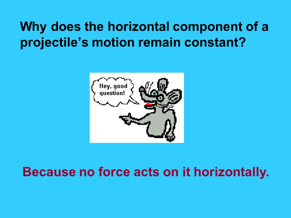 Why does the horizontal component of a