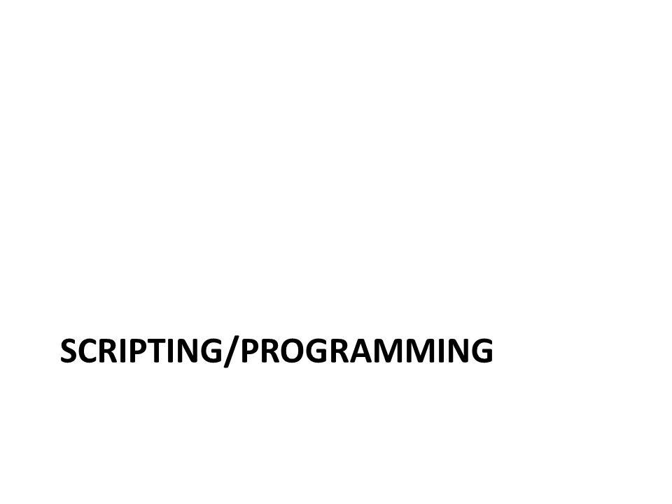 Scripting/programming