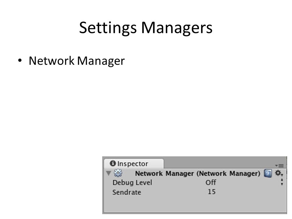 Settings Managers Network Manager