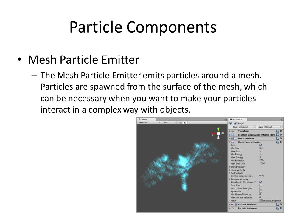 Particle Components Mesh Particle Emitter