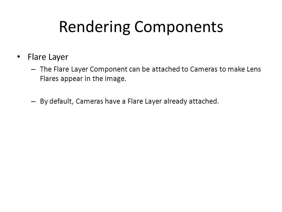 Rendering Components Flare Layer