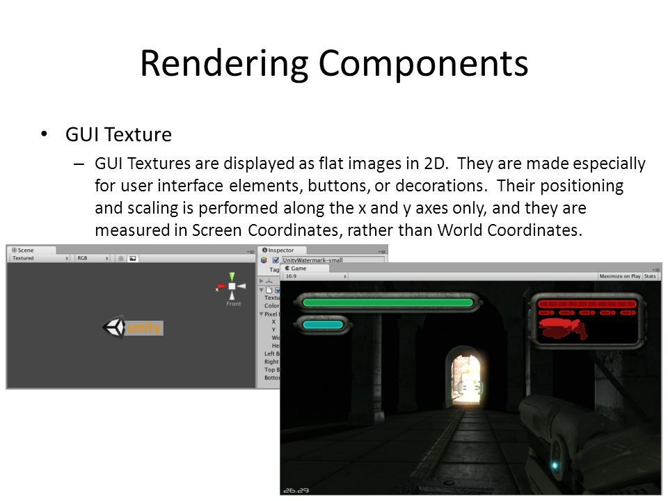 Rendering Components GUI Texture