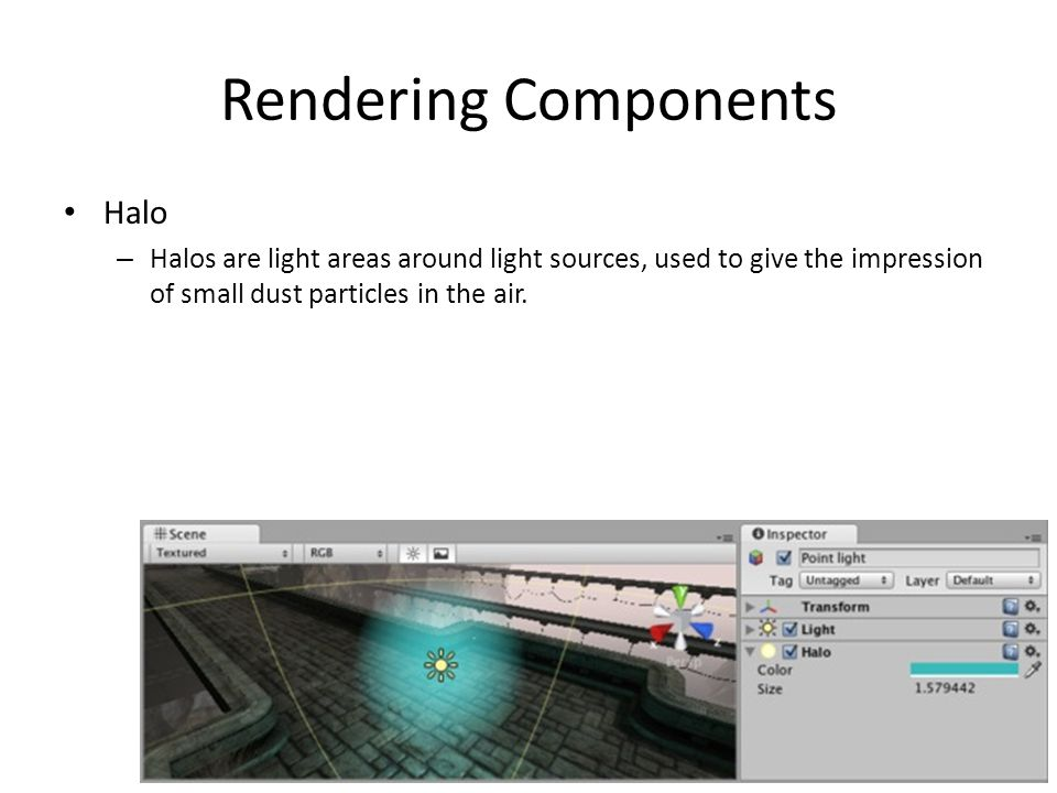 Rendering Components Halo