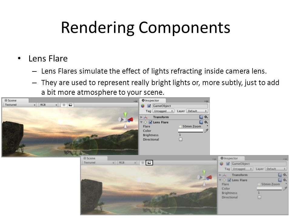 Rendering Components Lens Flare