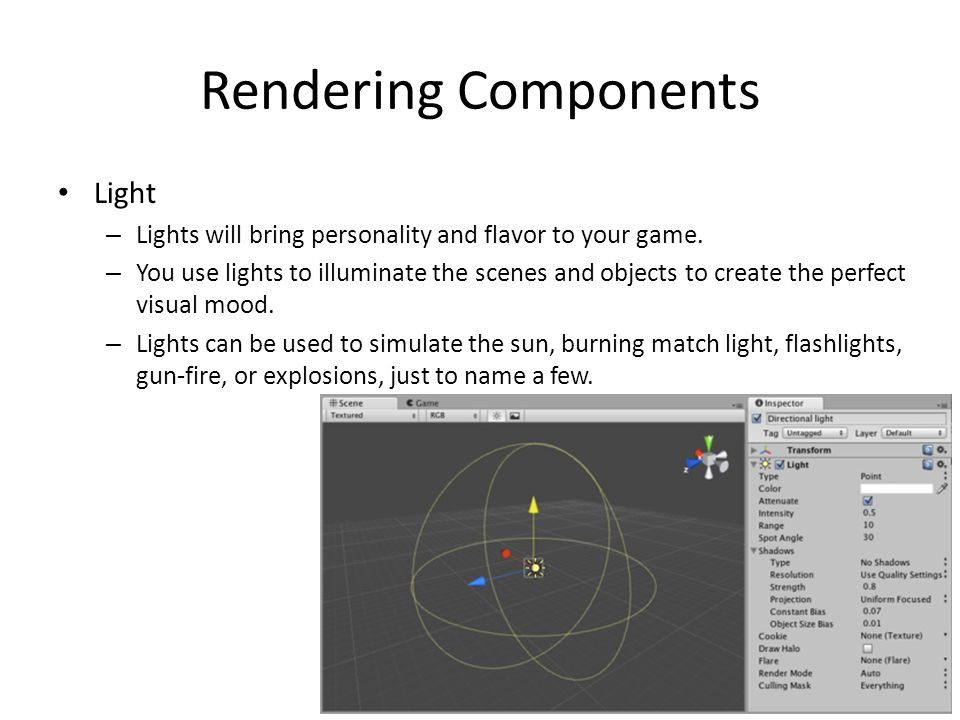 Rendering Components Light