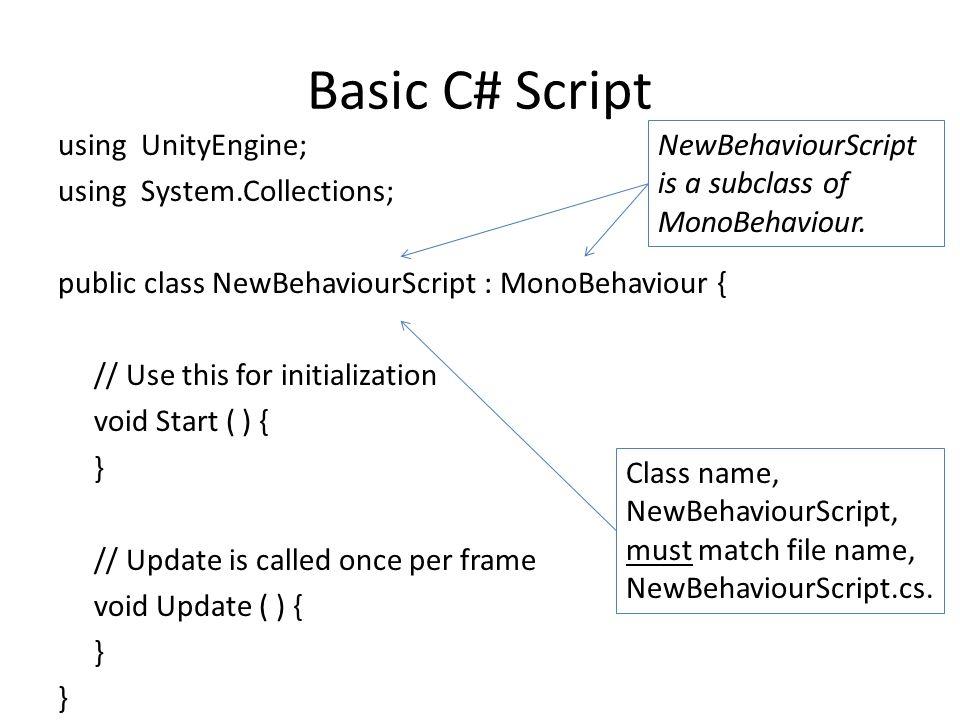 Basic C# Script