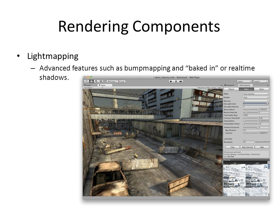 Rendering Components Lightmapping