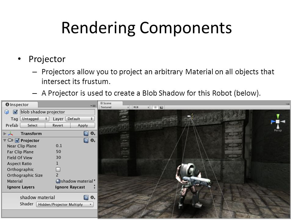 Rendering Components Projector