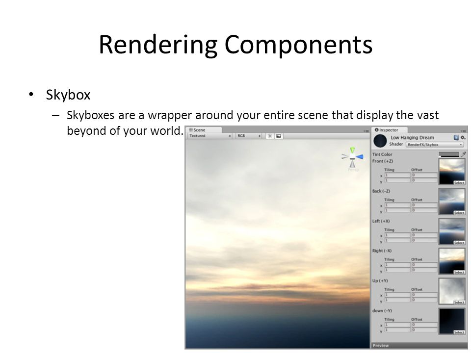 Rendering Components Skybox