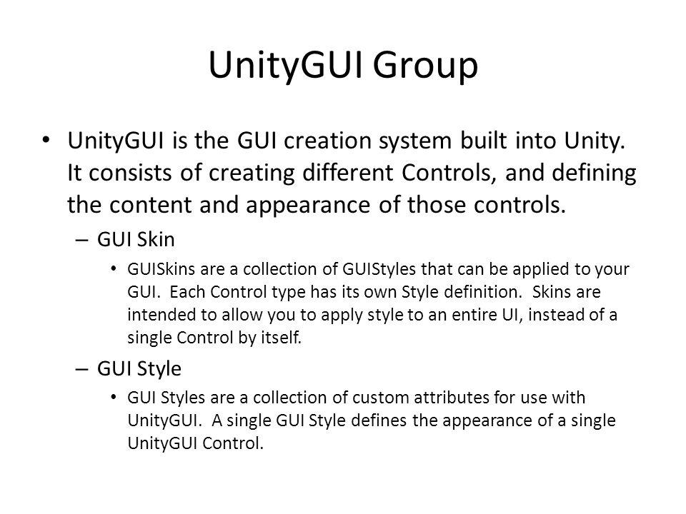 UnityGUI Group