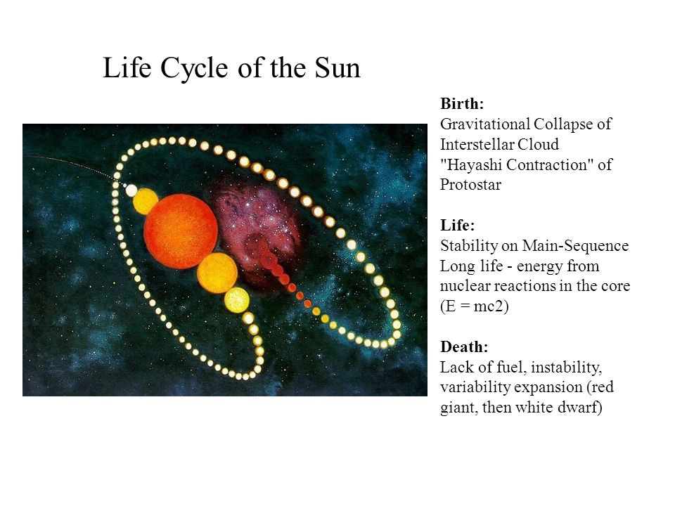 Life Cycle of the Sun Birth: