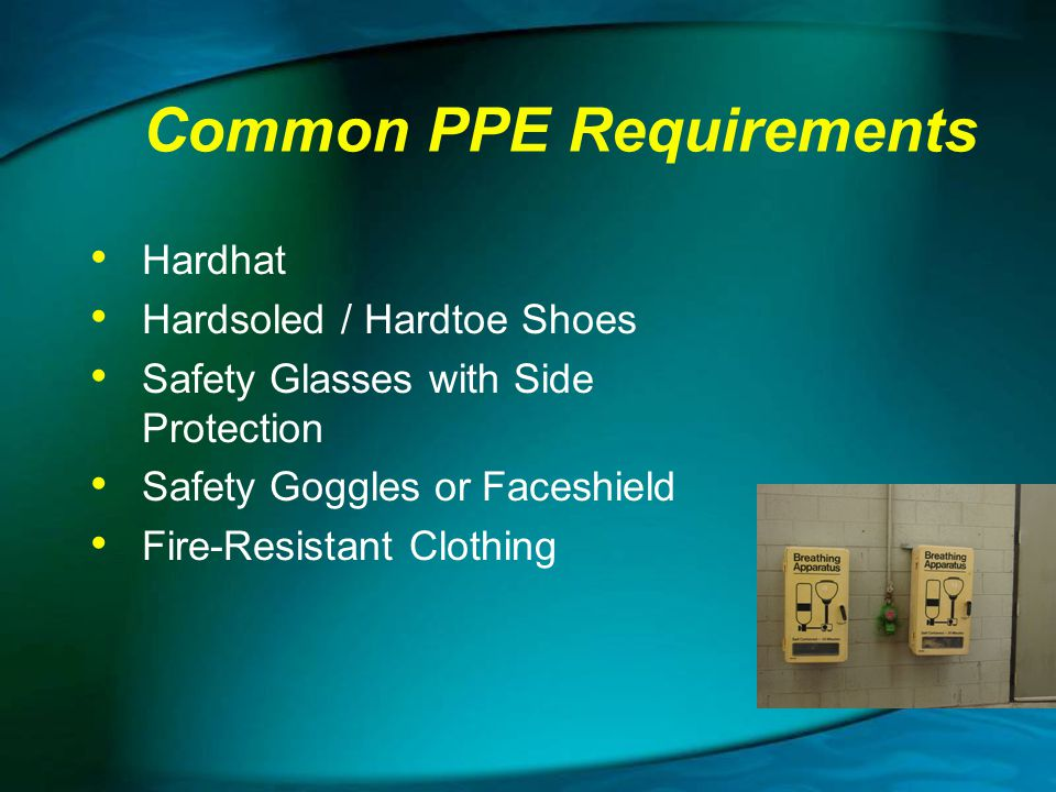 Common PPE Requirements