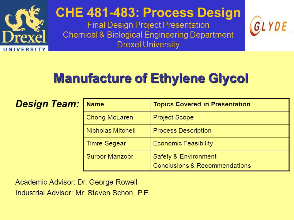 Manufacture of Ethylene Glycol