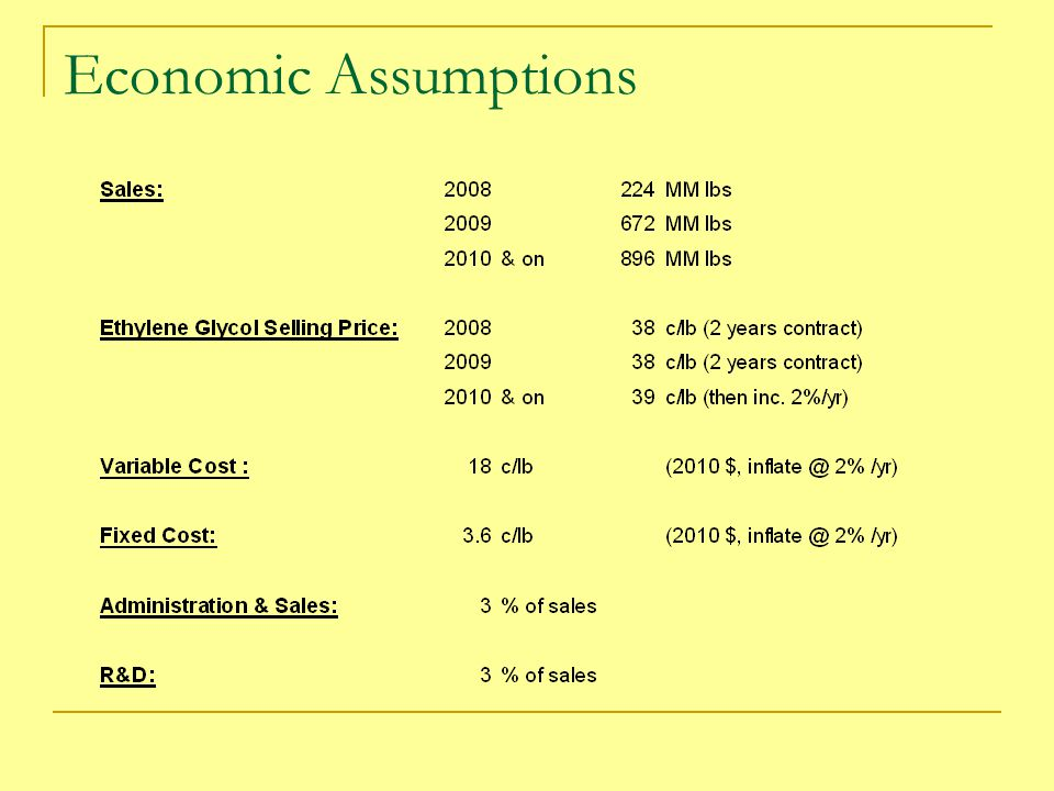 Economic Assumptions
