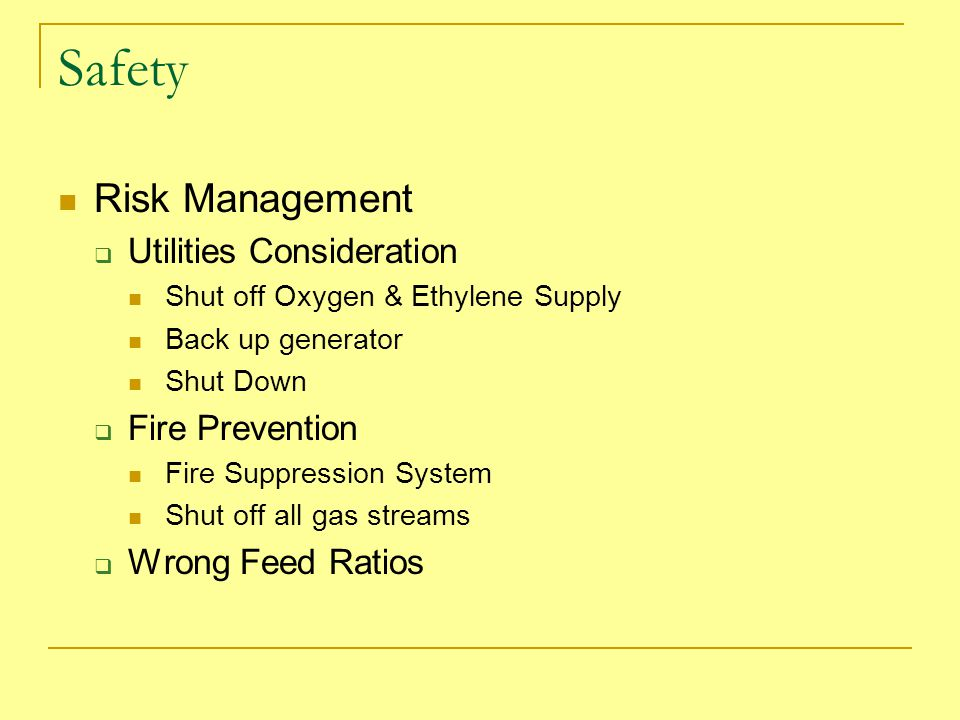 Safety Risk Management Utilities Consideration Fire Prevention