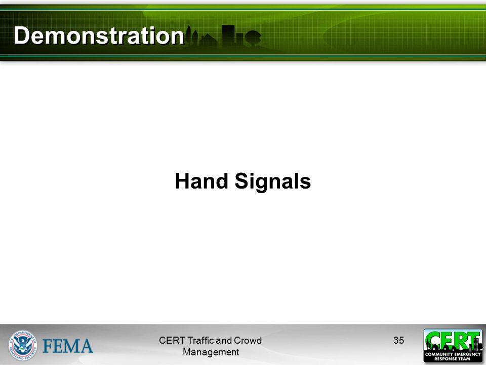 Practicing Hand Signals