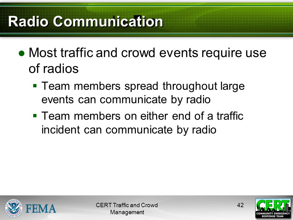 Radio Communication (cont'd)