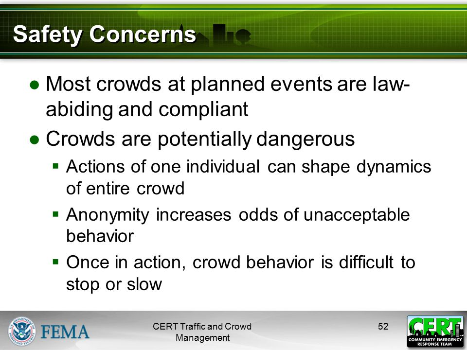 CERT Traffic and Crowd Management