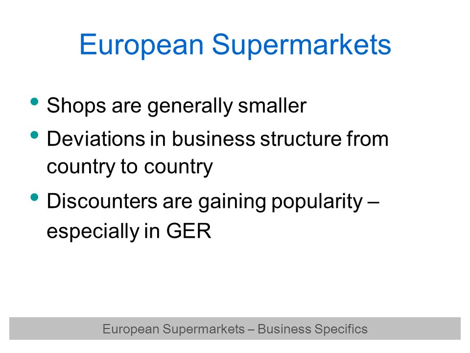 European Supermarkets