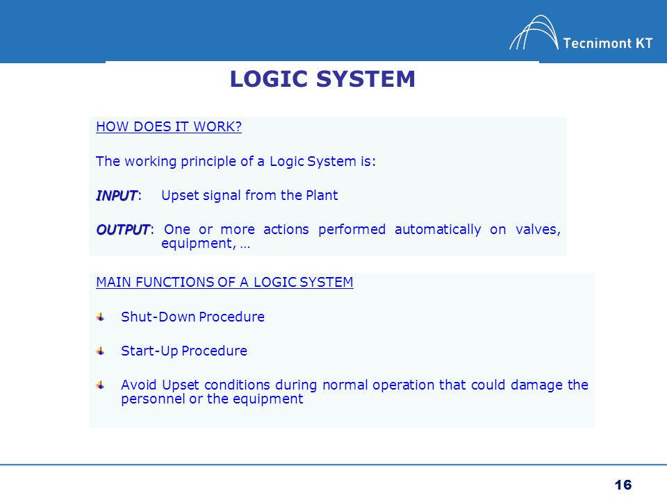 LOGIC SYSTEM HOW DOES IT WORK