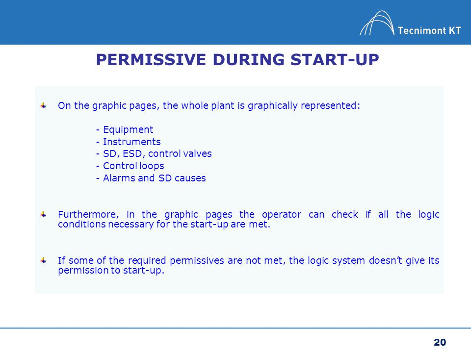 PERMISSIVE DURING START-UP