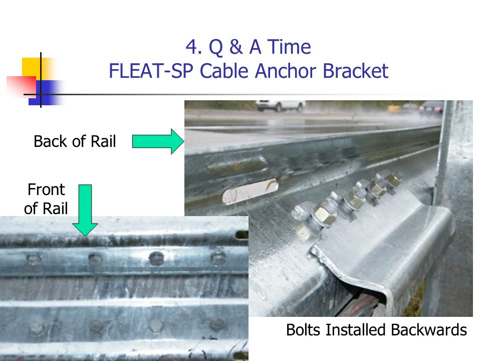 4. Q & A Time FLEAT-SP Cable Anchor Bracket