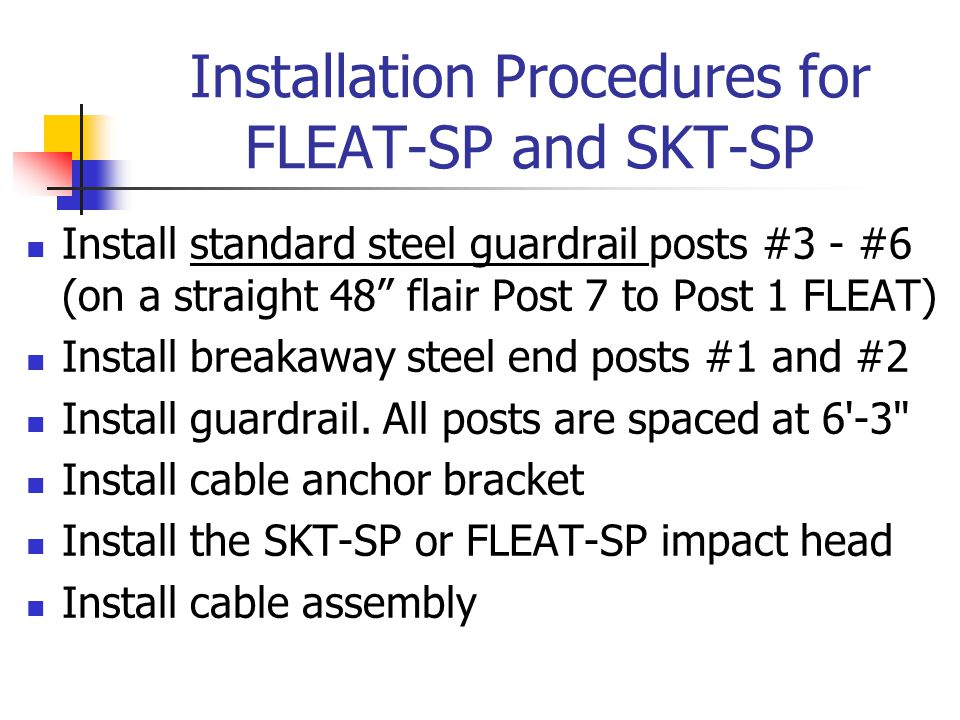 Installation Procedures for FLEAT-SP and SKT-SP