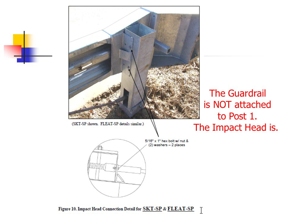 For the FLEAT the guardrail is also NOT attached at Post 3.