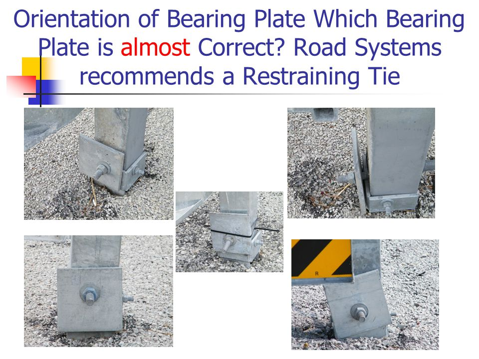 Orientation of Bearing Plate Which Bearing Plate is almost Correct