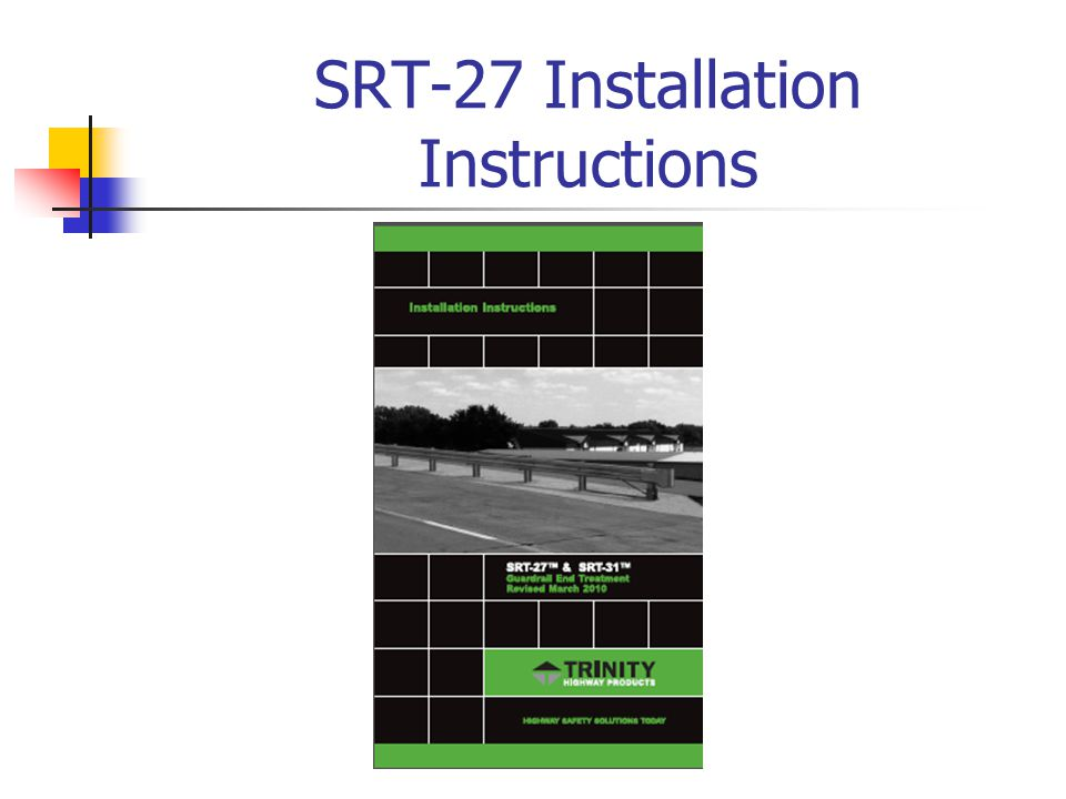 SRT-27 Installation Instructions