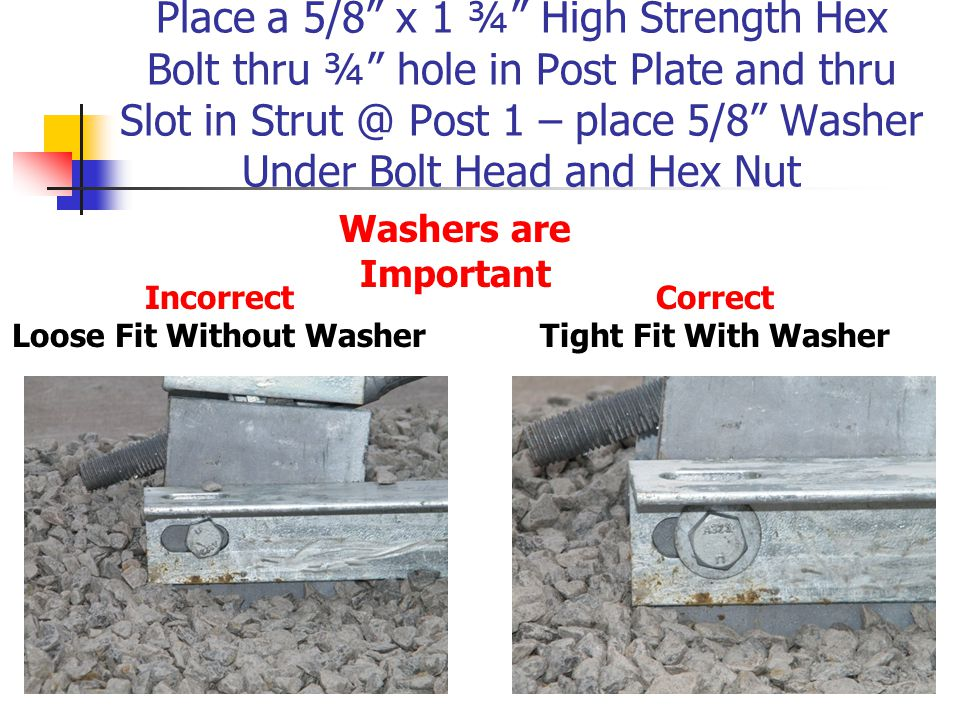 Loose Fit Without Washer