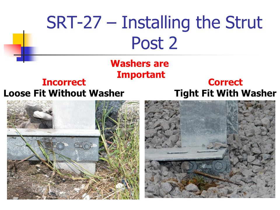 SRT-27 – Installing the Strut Post 2