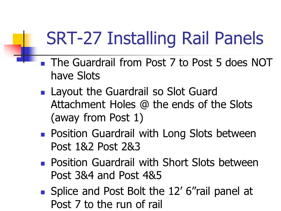 SRT-27 Installing Rail Panels