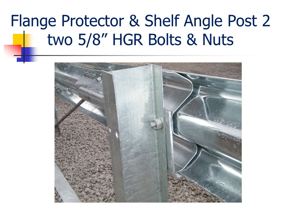 Flange Protector & Shelf Angle Post 2 two 5/8 HGR Bolts & Nuts
