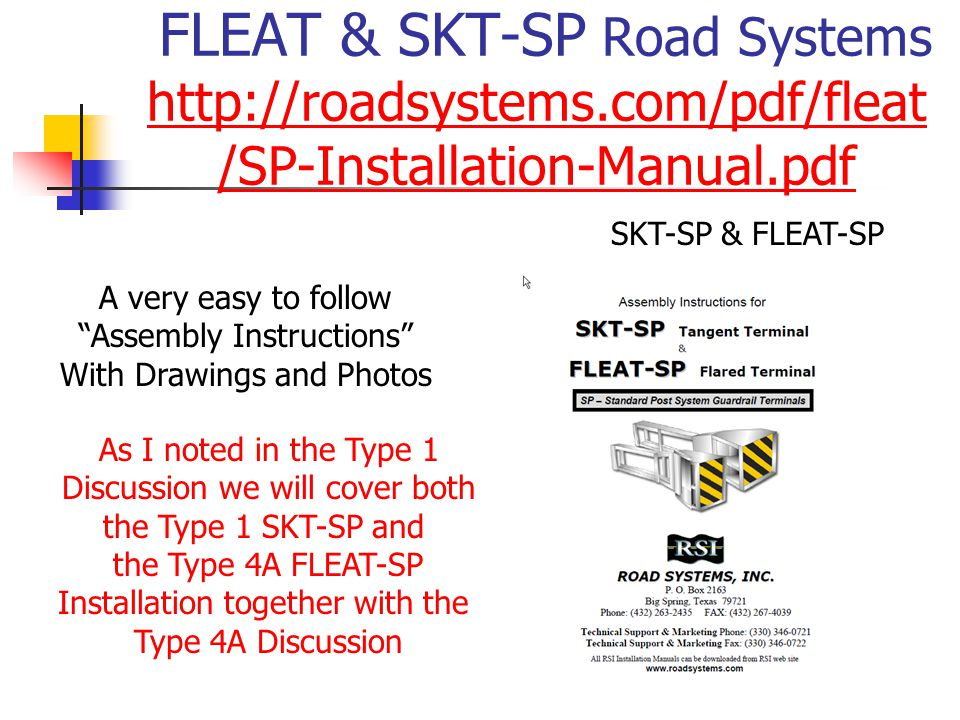 FLEAT & SKT-SP Road Systems http://roadsystems