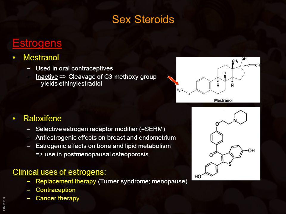 Sex Steroids Estrogens Mestranol Raloxifene