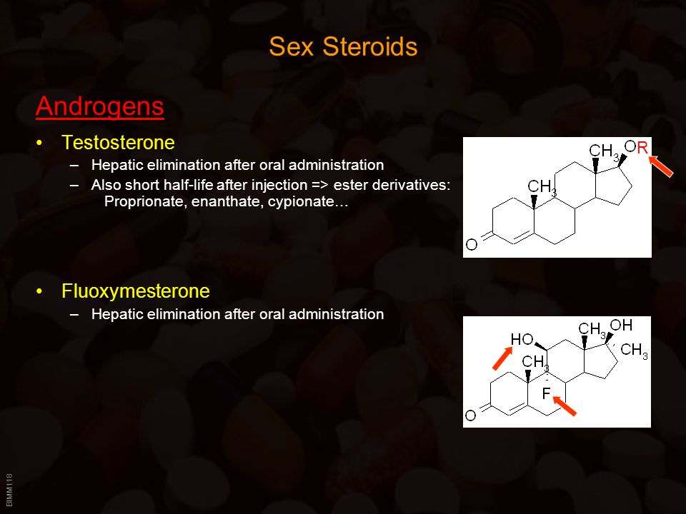 Sex Steroids Androgens Testosterone Fluoxymesterone R
