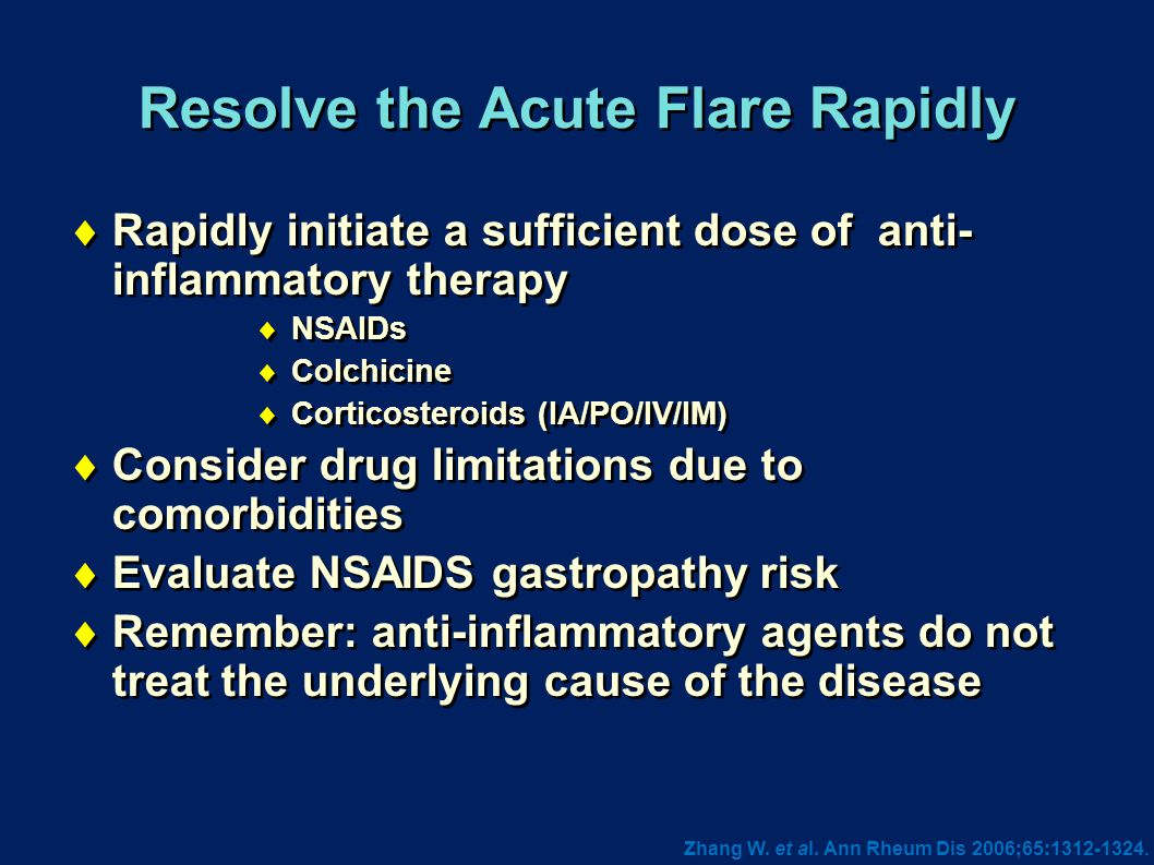 Resolve the Acute Flare Rapidly