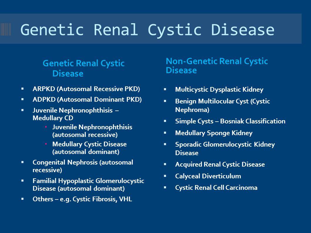 Genetic Renal Cystic Disease