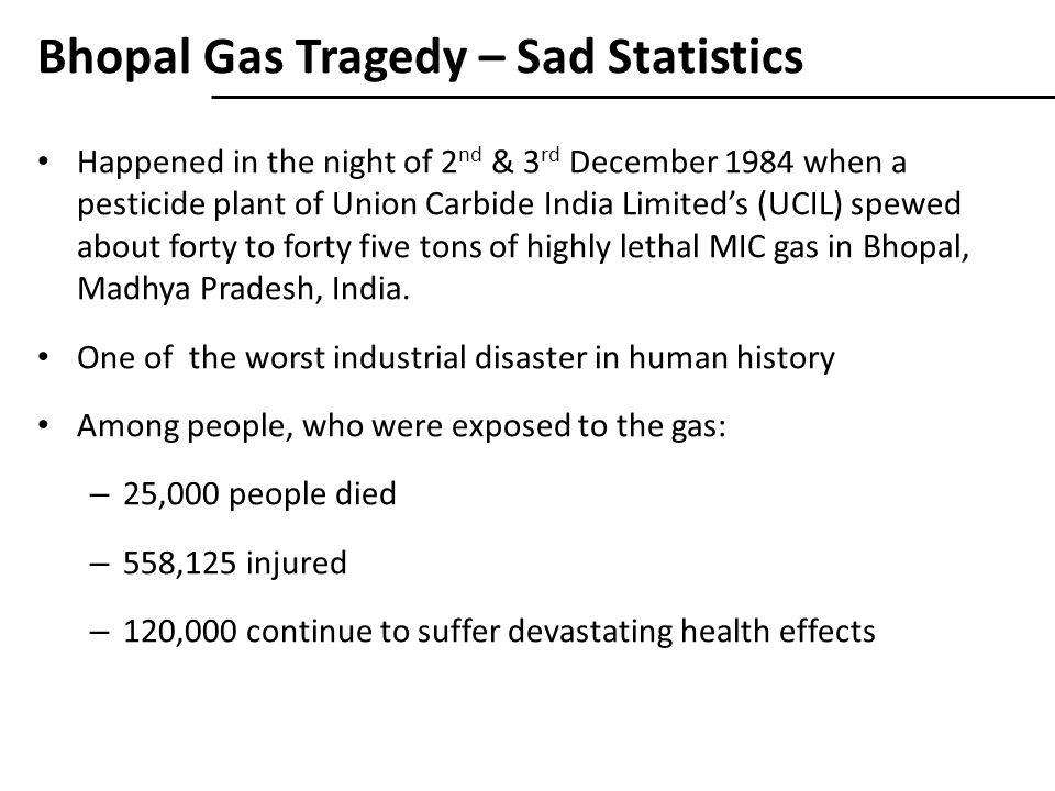 Bhopal Gas Tragedy – Sad Statistics