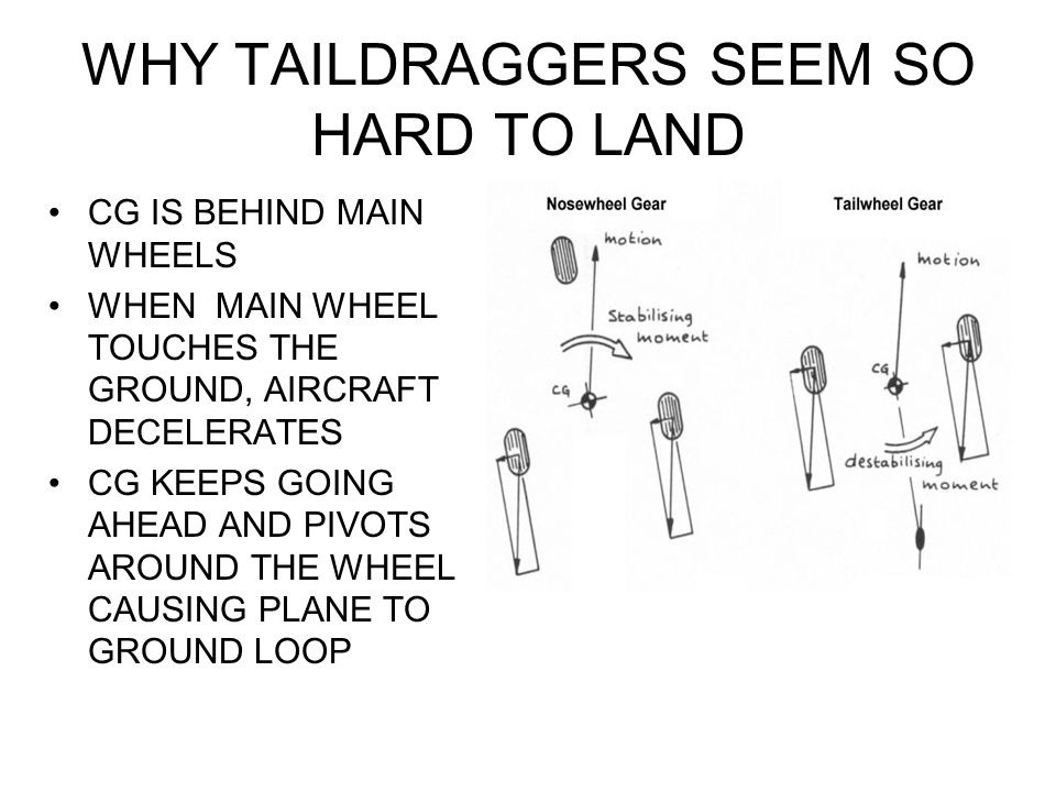 WHY TAILDRAGGERS SEEM SO HARD TO LAND