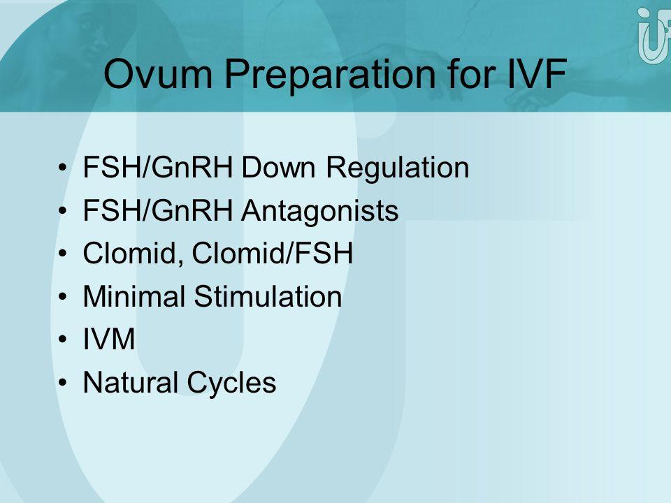 Ovum Preparation for IVF