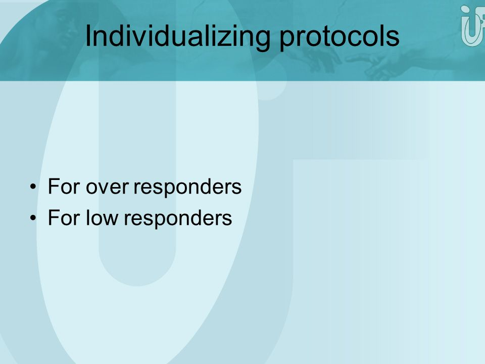 Individualizing protocols