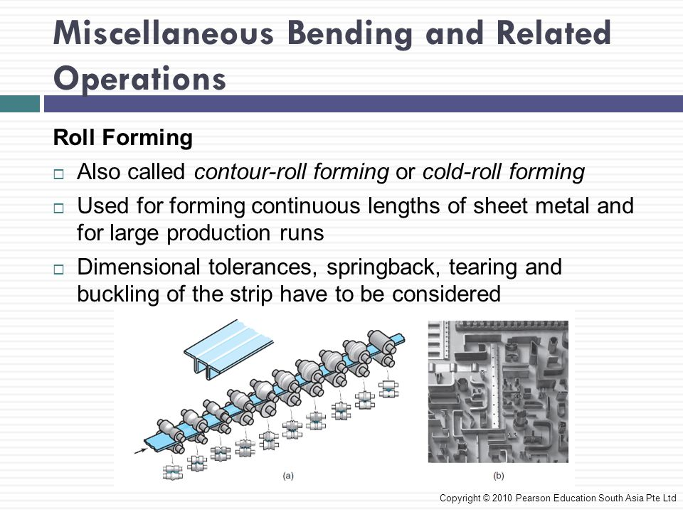 Miscellaneous Bending and Related Operations
