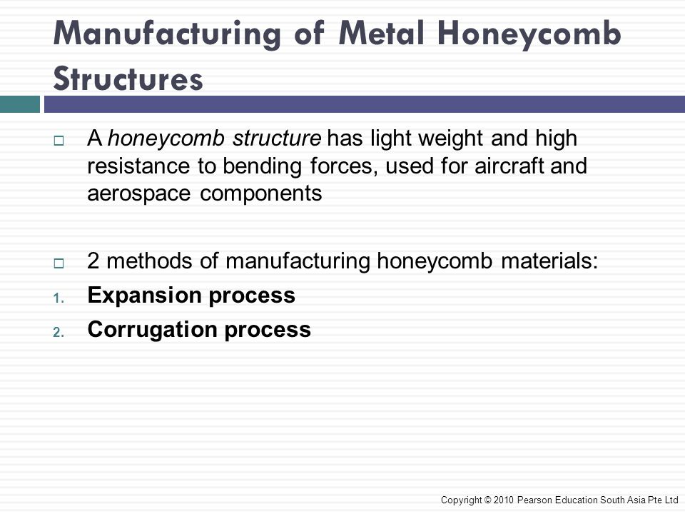 Manufacturing of Metal Honeycomb Structures